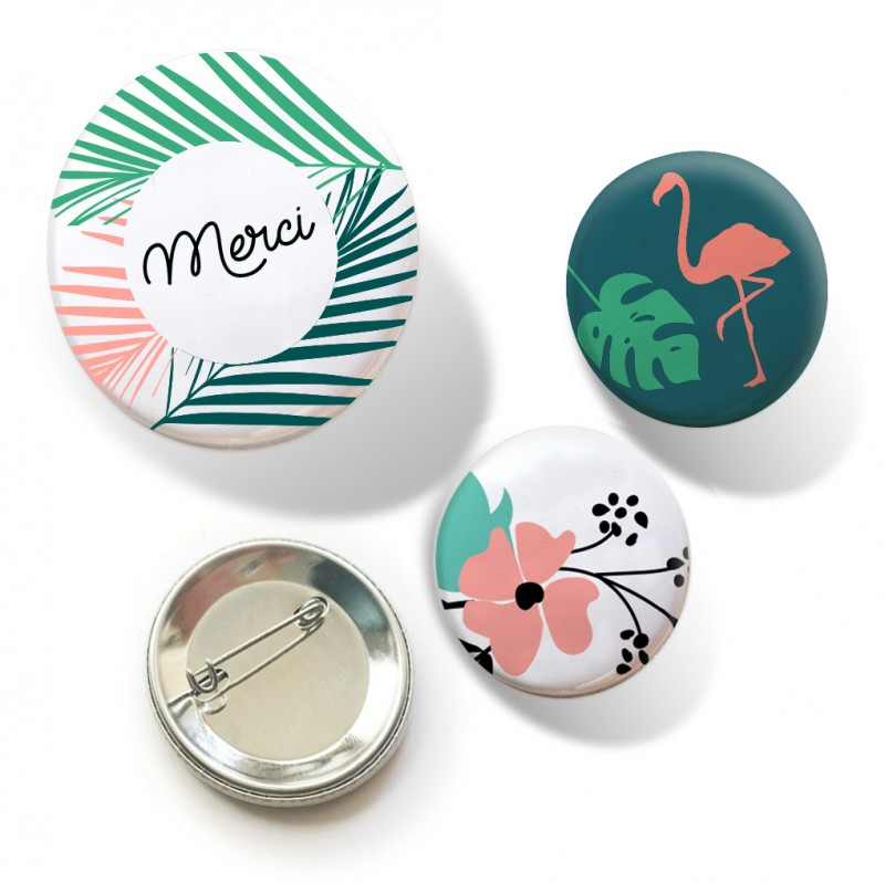 badges merci jungle