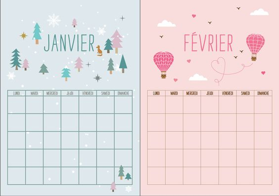calendrier 2017 gratuit le top des free printable ou diy. Black Bedroom Furniture Sets. Home Design Ideas