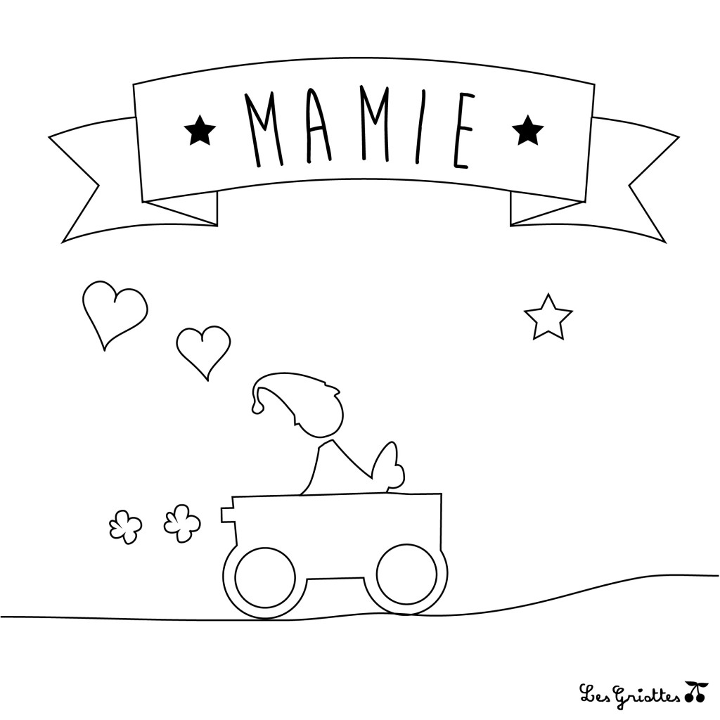 coloriage-mamie-voiture