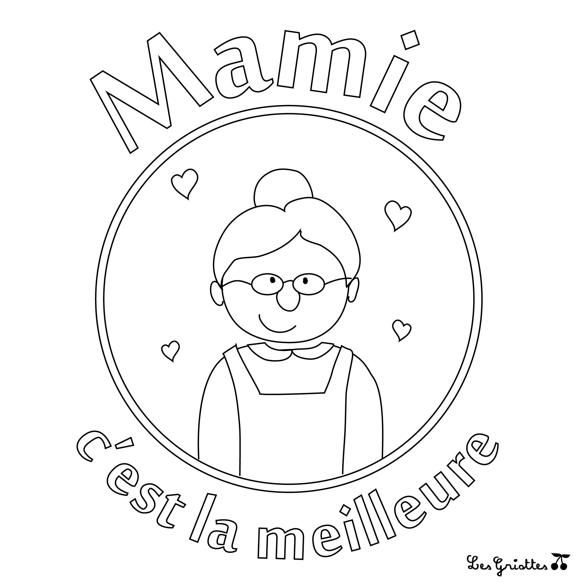 Des Coloriages Pour Mamie Les Griottes Papotent