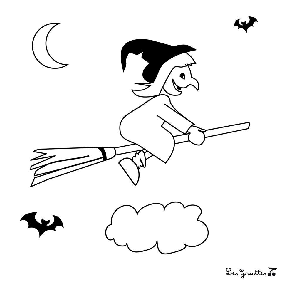Coloriages pour halloween les griottes papotent - Coloriages d halloween ...