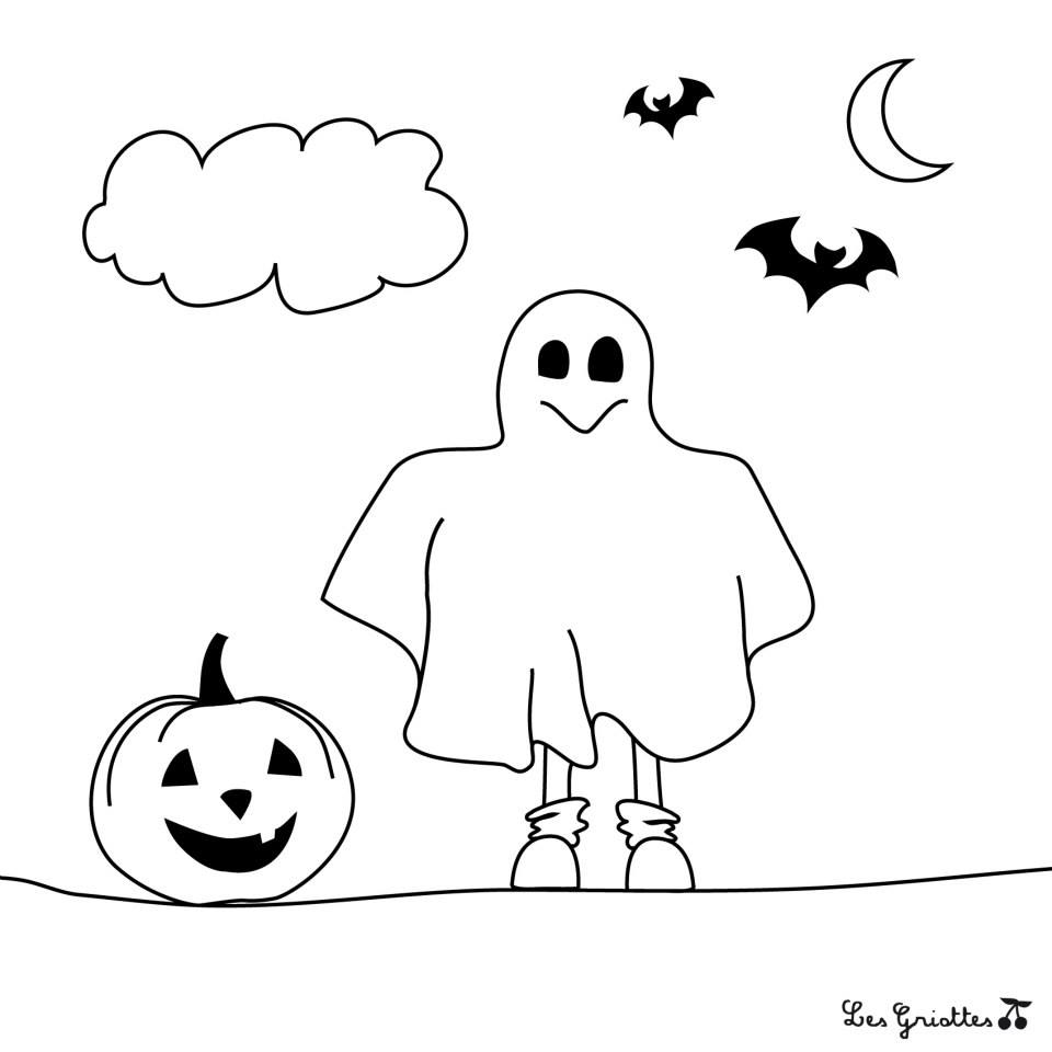 fantome coloriage halloween