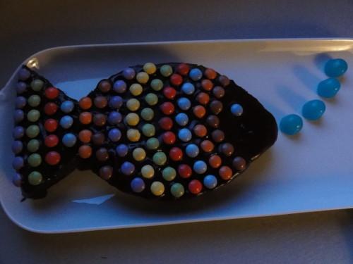 gâteau poisson bulles