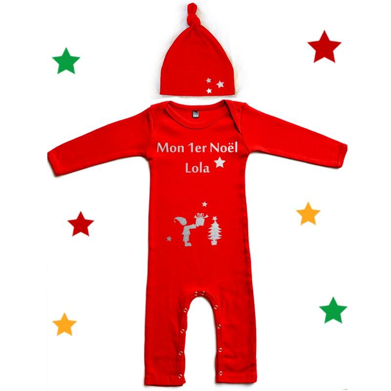 tenue de noël personnalisée bébé