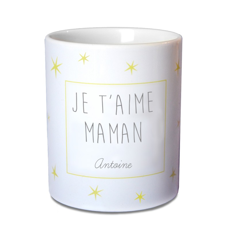 mug personnalisé étoiles