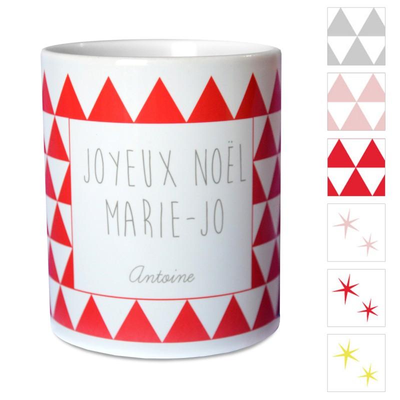 mug personnalisé figures géométriques