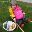 La chasse aux oeufs de Pâques.