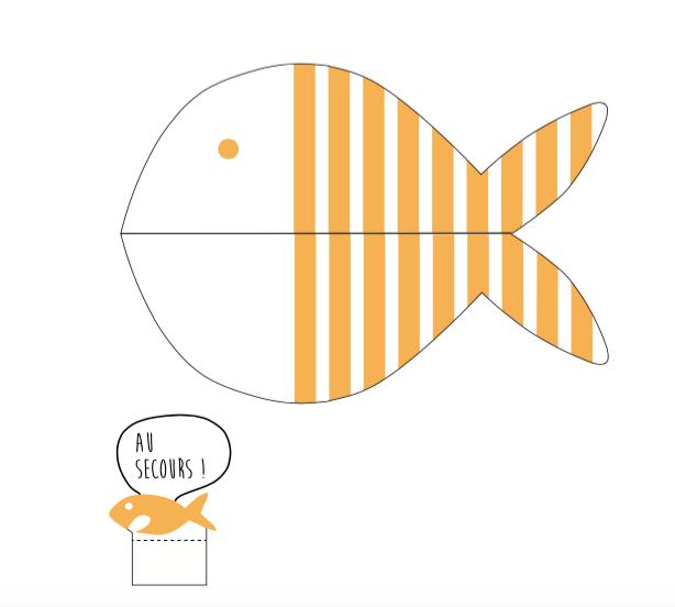 poisson d'avril jaune