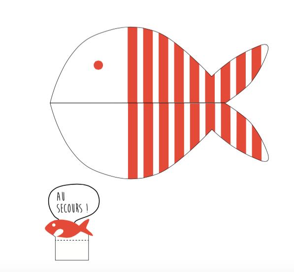 poisson d'avril rouge