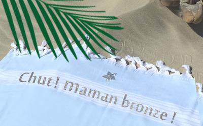 serviette de plage personnalisable